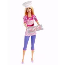 Barbie Chef Cocinera Con Accesorios