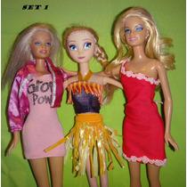 Ropa Vestido Zapatos Para Muñeca Barbie