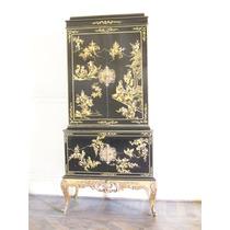 Mueble bargue o antiguo laqueado pintado a mano for Muebles antiguos argentina