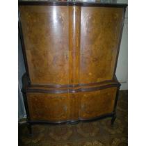 Antiguo Mueble Cristalero Bahiut Estilo Frances Luis Xv