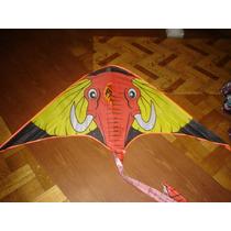 Barrilete Elefante 1,50m Por 0,75m Completo Animal