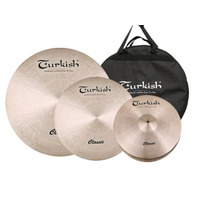 Set Platillos Bateria Turkish Classic Set 14-16-20 C/ Funda