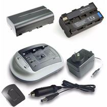 Kit Bateria T/ Sony Np F550 + Cargador + Fuente + Adaptador