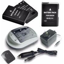 Bateria 100% P/ Nikon D3100 D3200 D5100 + Cargador + Fuente