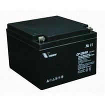 Bateria Vision Cp12240 12 V 24ah Para Ups, Ilum. Emergencia