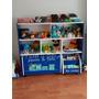 Modulo Organizador Con Baul Infantil Con Ruedas Juguetero