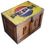 Baúl Madera Vintage Grande P/candado Pepsi M-30