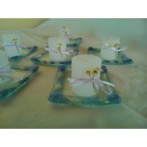 Souvenirs En Vitrofusión Bautismo Comunión Varios Modelos