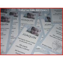 16 Tarjetas Para Bautismos, Cumpleaños - Souvenirs