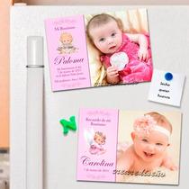 Divino 10 Foto Souvenir Imanes Bautismo Primer Año Nena