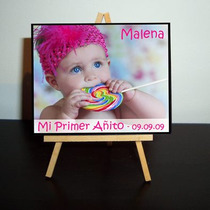 Mini Atril Souvenir Primer Añito - Bautismo - Cumpleaños