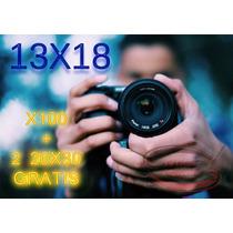 X100 Impresion Fotos Digitales13x18 Cm $300