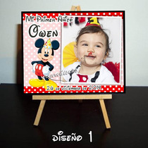 10 Mini Atril Personalizados Souvenirs Cumple Mickey Mouse