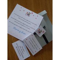Participaciones Invitaciones Casamiento Boda Sobre Puntilla.