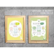 Cuadros Box Personalizados Nacimiento/b.shower/certificados