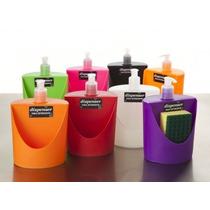 Dispenser De Detergente C/compartimiento Para Esponja