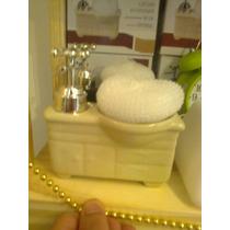 Dispenser De Jabon Mueble De Baño Ceramica Varios Colores
