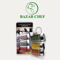 Especiero Vidrio X6 + Exhibidor Vertical - Bazar Chef