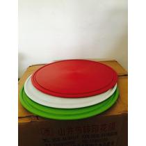 Tabla Plástica Para Pizza De 35cm Con Antideslizante Vs Colo