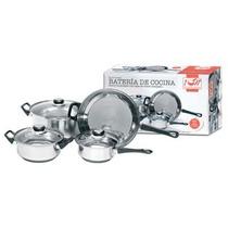 Bateria De Cocina 7 Piezas Acero Inox.