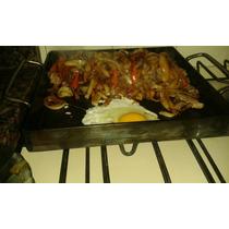 Chapa Bifera Plancha Para Cocinar, 26x26, Para Una Hornalla