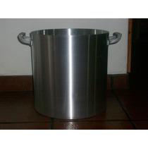 Olla Gastronomica De Aluminio Con Tapa N°45 - 72 Litros-