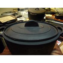 Olla De Hierro Ovalada Matambrera 6 Lts Para Cocina Anafe