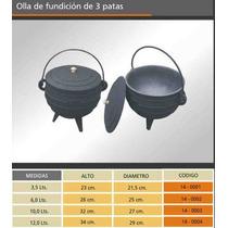 Olla Caldero 8 Ltrs Fundición Hierro C/ 3 Patas Sin Tapa Eco