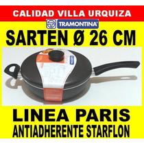 Sarten 26 Cm C/ Tapa, Asa Y Mango - Tramontina - Paris