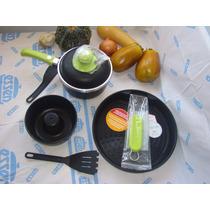 Set Disegno Negro Unico Antiadher Mangos Verde Manzana Essen