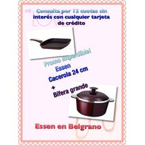 Set De Cacerola 24 Cm Y Bífera Grande Essen En Belgrano