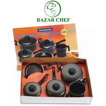 Tramontina - Paris Bateria Teflon 5 Piezas - Bazar Chef