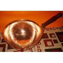 Perol De Cobre Con Mango 25 Cm Garrapiñadas/dulces
