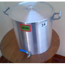 Olla Aluminio Con Canilla 30 L Cerveza - Opcion Falso Fondo