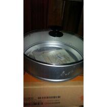 Combo Essen 28cmset Básico+tapa De Vidrio+savarín+vaporiera