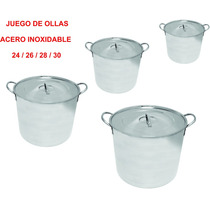 Set De Ollas Acero Inoxidable