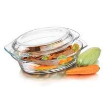 Cacerola Oval Libbey Vidrio Templado Horno-microonda-freezer