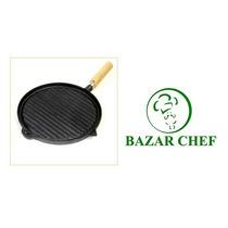 Plancha Bifera Rayada Sin Enlozar # 1 22.5 Cm - Bazar Chef