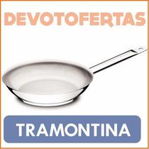 Sarten Tramontina Gourmet 30cm Acero Inox 18/10 Triple Fondo