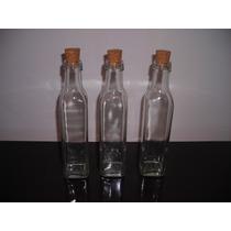 10 Botella De Vidrio 250cc Con Corcho Incluido Aceite Licor