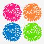 Posavasos Selva En Silicona De Colores Set X 4 Cocina Morph