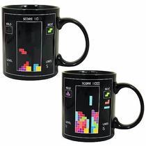 Taza Mágica Tetris Y Termometro!!!