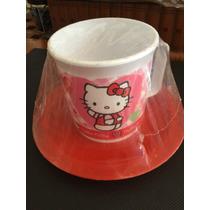 Taza Plastica Con Plato Hello Kitty