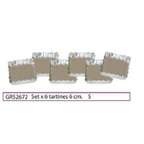Set X 6 Tartines 6 Cmtrs