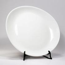 Plato Steak - Vidrio Templado Blanco Oval Luminarc