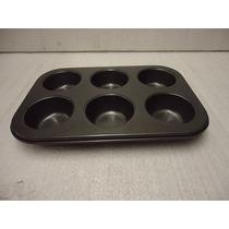 Molde P Muffin Cupcakes C Antiadherente Reposteria Pastelero