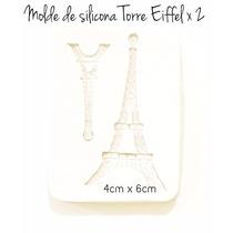 Molde De Silicona Torre Eiffel X 2 Cupcakes Tortas