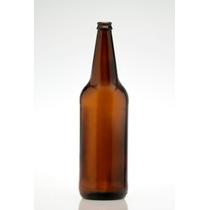 Envase Botella Cerveza Ambar Vidrio. Pack X12#. 1 Litro.
