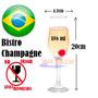 Copa Champagne Bistro Flauta Champan Vino Agua Brindis Cater