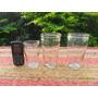 Lote De 3 Antiguos Vasos Vidrio Envases De Dulce De....